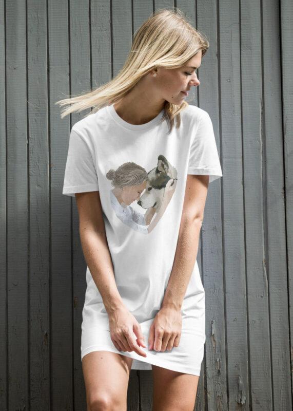 Stampa su vestito t-shirt