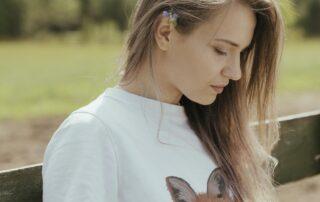 t-shirt donna ecologica maniche corte stampa volpe